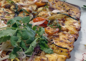 Thai tanic pizza from the menu